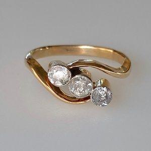 Superb 18k Old Rose Cut .45 ctw Diamond Ring 3g